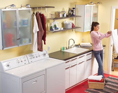 <b>After photo</b></br> This is the laundry room after the makeover.
