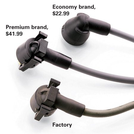 <b>Wire options</b></br> The premium replacement exactly matches the factory connectors. The economy wire doesn't.