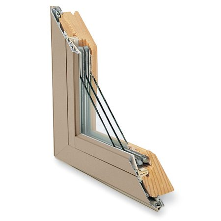<b>Triple-pane window details</b></br> Marvin's triple-glazed window consists of three panes of glass, two of which have a low-e coating. The space between the panes is filled with krypton gas.
