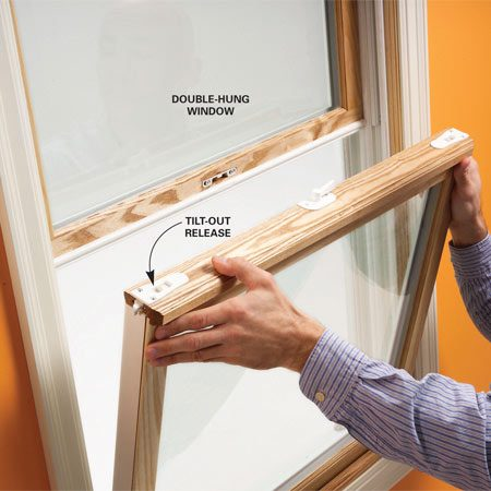 <b>Photo 2: Check cleaning options</b></br> Test the tilt-out system on double-hung windows to make sure you can operate it easily and remove the window for easy cleaning. Make sure both sashes slide smoothly.