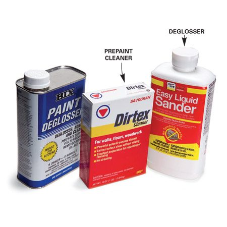 <b>Photo 2: Common wall and woodwork cleaners </b><br/>You&#39;ll find such cleaners in hardware stores or home centers.