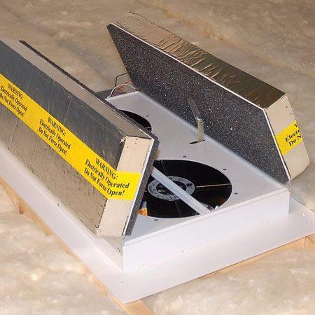 Insulated-door fan