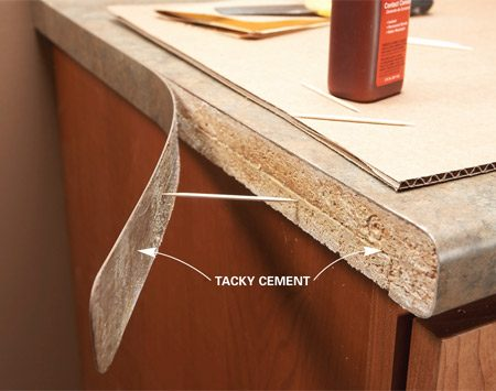 How to fix laminate countertop