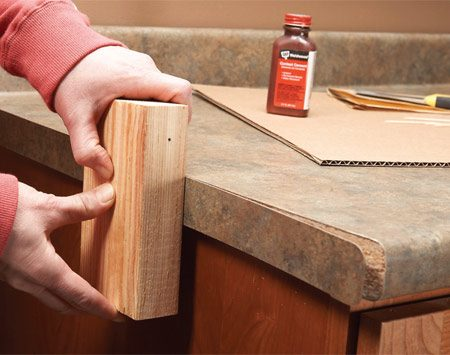 Laminate Repair Tips Reglue Loose Laminate The Family
