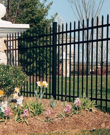<b>Aluminum</b></br> <p>Aluminum fences provide security and keep pets and kids from wandering—and they're more decorative than chain-link fencing.</p> <p>Photo courtesy of Delgard</p>