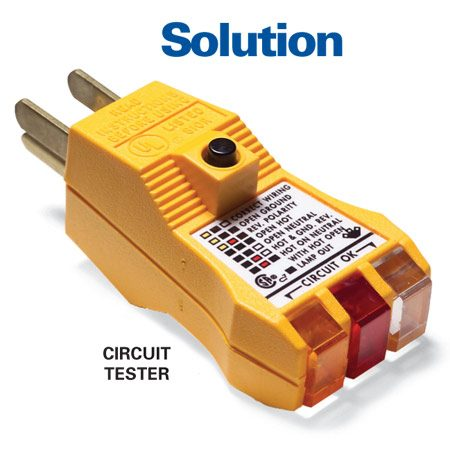 Solution: GFCI circuit tester