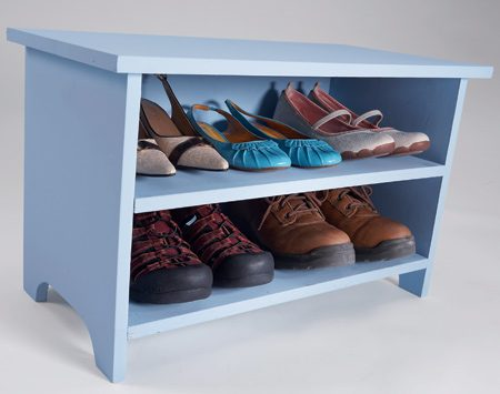 <b>Double-duty storage</b></br> Use this small cabinet for storage and for a step up to a high shelf.