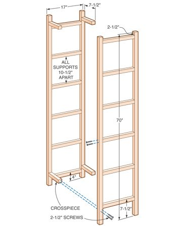 <b>Recycling tower plans</b></br> Build a space-saving tower for plastic recycling containers with simple 2x2 and screw construction.