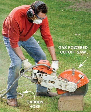 Cutting blocks with a cutoff saw