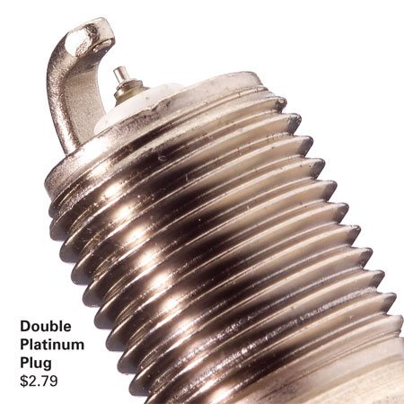 <b>Double platinum plug</b></br> A little extra money buys better engine performance.