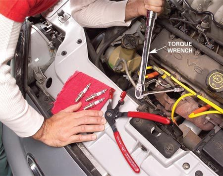 <b>Photo 5: Use the proper amount of torque</b></br> Proper spark plug torque is CRITICAL in today's engines. Always use a torque wrench and the manufacturer's torque specifications! Insufficient torque can result in a plug blowing right out of the cylinder head, taking the threads with it. Too much torque distorts the plug. If you used anti-seize compound on the plug threads, reduce torque by 10 percent.