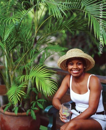 Trees provide soothing, low-cost shade.  Set them<br/> on the deck or plant them in the ground.