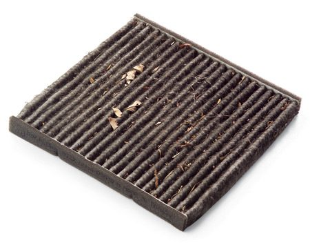 <b>Dirty Filter </b></br> Road debris, leaves, dust and pollen all clog cabin air filters.