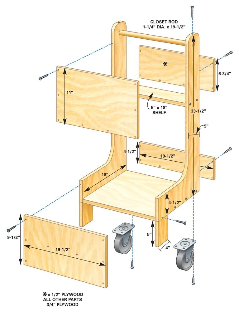 Air Compressor Cart | The Family Handyman