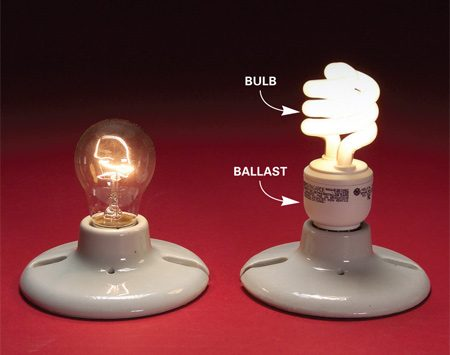 <b>Question</b></br> How do compact fluorescent lights work and how do they differ from standard bulbs?