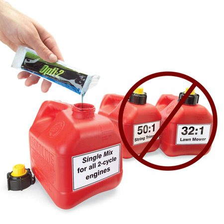 <b>Single mix</b></br> Eliminate multiple gas cans by switching to a single-mix oil for your two-cycle engines.