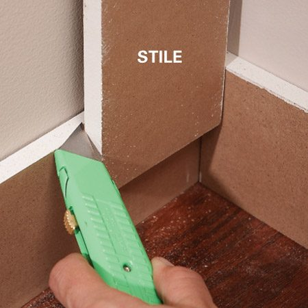 <b>Mark in place</b></br> Use a utility knife to create fine, precise cutting marks.