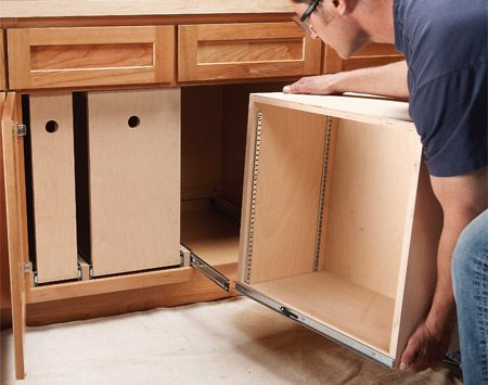 Photo 9  Install the rollout. Build Organized Lower Cabinet Rollouts for Increased Kitchen