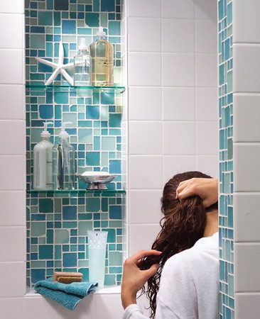 <b>Alcove</b></br> An alcove is the perfect spot for shampoos, conditioners and soaps.