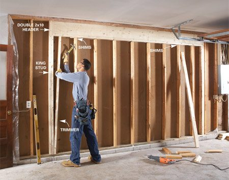 Get more garage storage with a bump out addition the for How to wire a new room addition