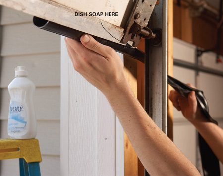 How to seal garage door