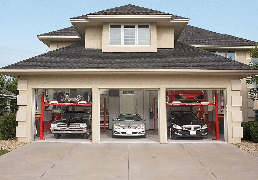 Dream garage double decker car storage the family handyman for Car garage