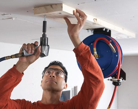 Air Hoses Install A Retractable Air Hose Reel The