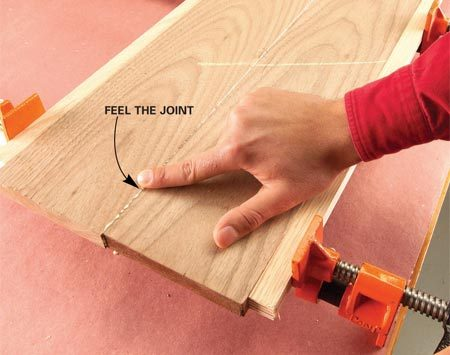 <b>Make the boards even</b></br> Adjust the boards to align precisely and to simplify finish work later.