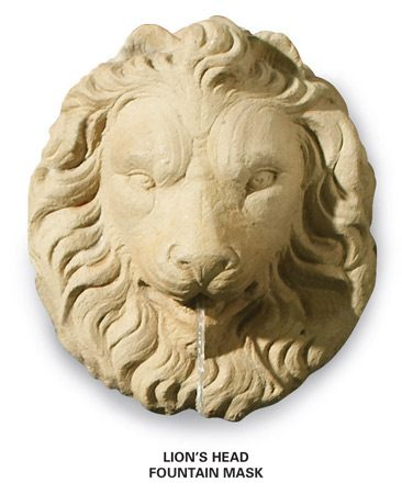 <b>Lion's head fountain</b></br> Fountain prices range from $25 to over $1,000.