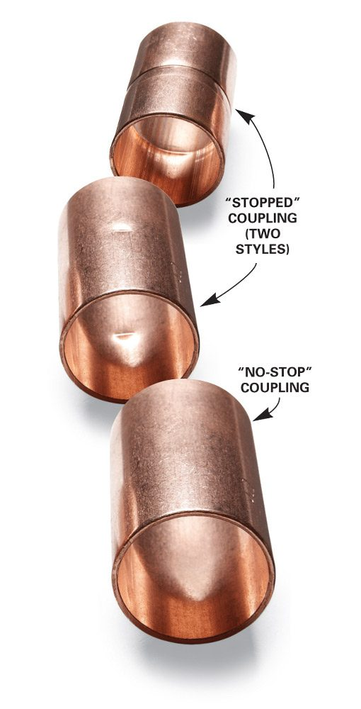 """Stopped"" and ""no-stop"" couplings"
