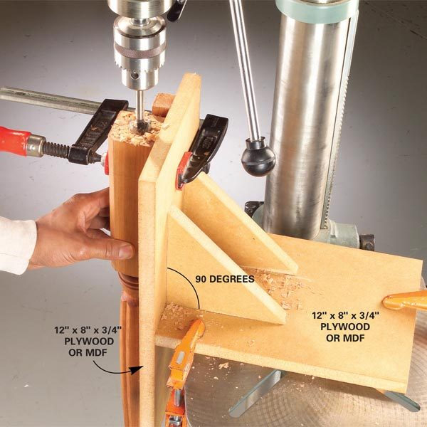 Vertical drilling jig