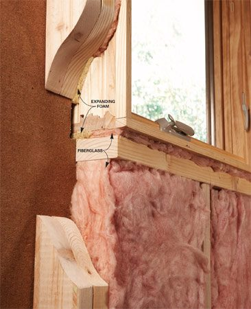 <b>Seal gaps</b><br/>Expanding foam makes an airtight seal in leak-prone areas like around windows and doors.