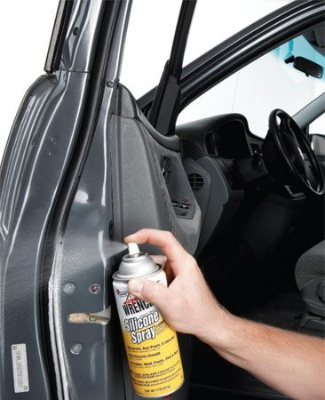 <b>Photo 2: Lube door weather stripping</b></br> Spray silicone on all weather stripping. Silicone will keep ice from bonding the rubber to the metal doors. That'll make doors open smoother and may even prevent tears in the weather stripping.
