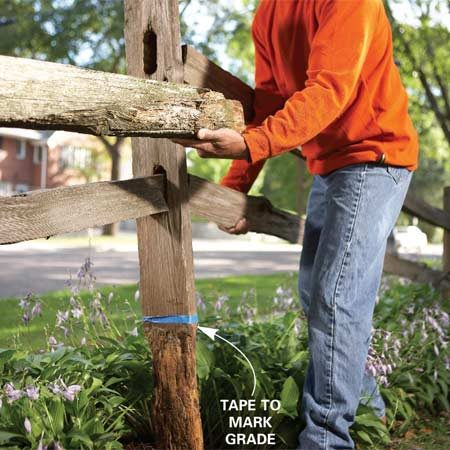 Replace A Section Of Split Rail Fence The Family Handyman