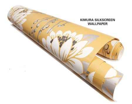 <b>Close-up of wallpaper</b></br> Fine wallpaper is affordable if you only paper one wall.