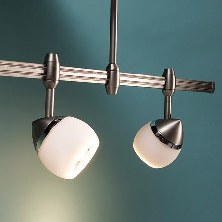 <b>Halogen track lighting</b></br> Rail track lighting is practical as well as decorative. Use spots to highlight pictures and objects.