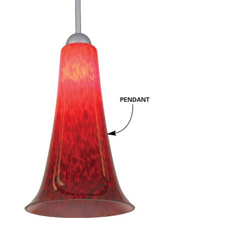 <b>Halogen pendant option</b></br> <p>Hang pendants from the rail to brighten work surfaces.</p>  <p>Photo courtesy of Seagull</p>