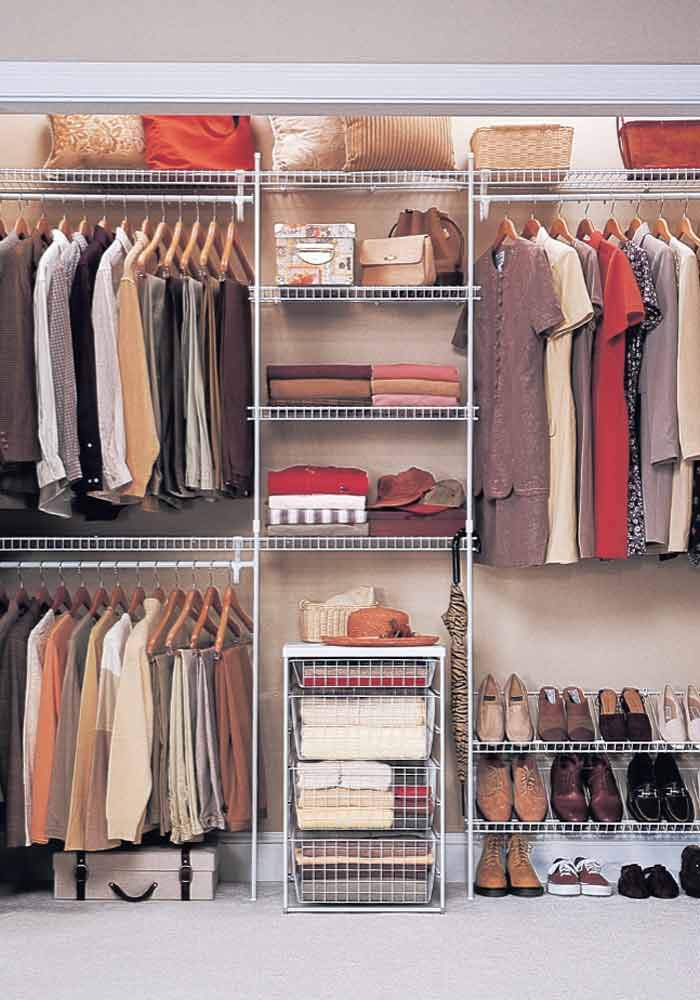 <p>Closet organizer</p>  <p>Photo courtesy of ClosetMaid</p>