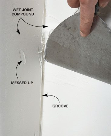 <b>Smoothing both sides</b></br> Working both sides of a corner at once seems faster, but actually results in more nicks, dents and ridges.