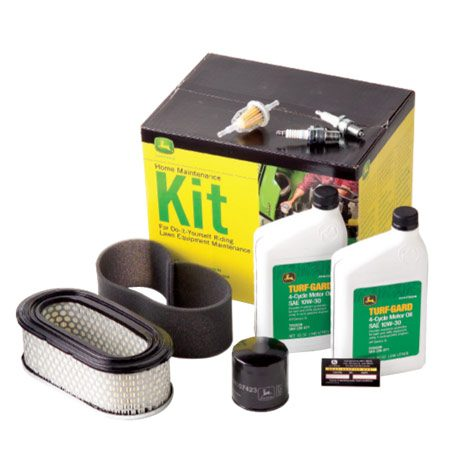 <b>Lawnmower maintenance kit</b></br> The kit includes everything you need for basic maintenance. A tube for a <b>tubeless tire</b> repair is extra.