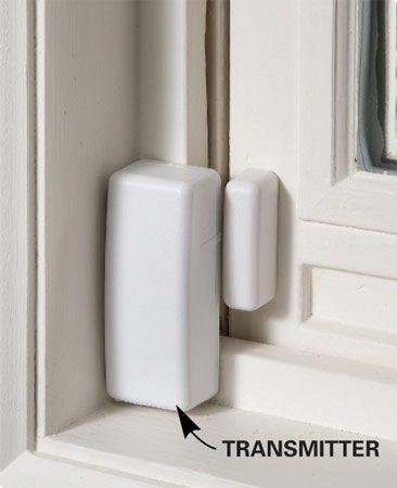 Wireless transmitter on window