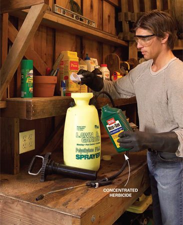 <b>Buy concentrated herbicide</b><br/>Save money by mixing concentrated herbicides rather than using premixed versions. Concentrates give you about 60 percent more herbicide for your buck.