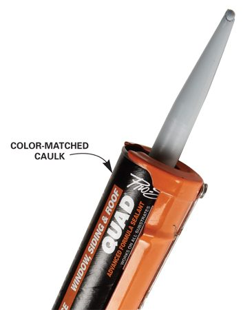<b>Color-matched caulk</b></br> Find caulk colors to match dozens of different siding colors at suppliers that sell to siding contractors.