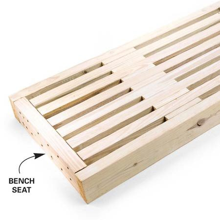 How to build an arbor with built in benches the family handyman - Made to measure bench seating ...