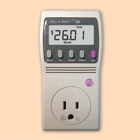 <b>Plug-in meter</b></br> Plug-in meters monitor single-item consumption when the appliance is on and off. Use it to sniff out the items that make up the biggest part of your bill.