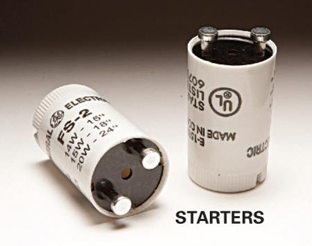 <b>Starters</b></br> Take the old starter to the store so you can get the right replacement— there are a number of different types.