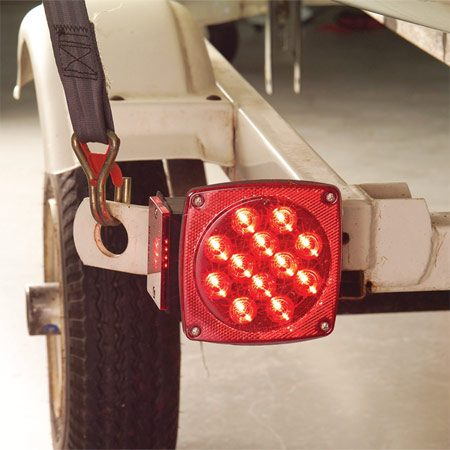 <b>Installed LED lights</b><br/>Splice the new lights into your existing trailer harness or install the new harness from the kit. Test the brake lights and turn signals before you take the trailer on the road.