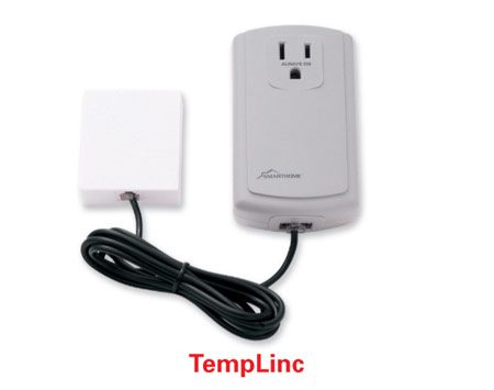 <b>Temperature sensor</b></br> <p>Temperature sensors detect furnace breakdowns and can help prevent   frozen pipes and resulting water damage when interior temperatures dip.   These temperature sensors, which come in battery-operated   models and versions that can be plugged into a wall   outlet, turn on or off any device plugged into   them depending on the air temperature. A lamp   plugged into the sensor will turn on when the   temperature inside the house falls below a certain   level, alerting a neighbor to call you or a   service person.</p>