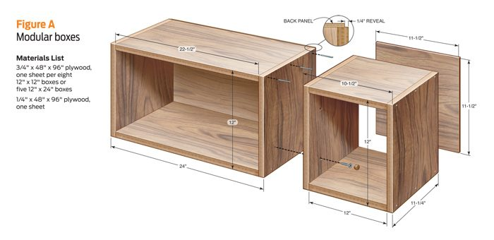 Box shelf dimensions