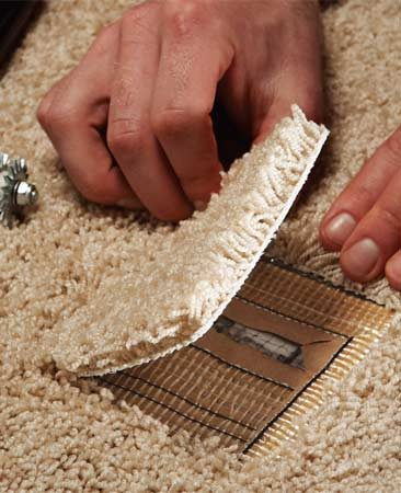 Cut The Burned Carpet Away Using A Pair Of Sharp Scissors